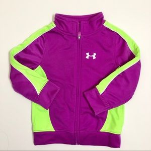 Under Armour purple and green zip up jacket